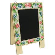 3 Birds Wood Chalkboard Easel Cross Stitch Kit, 7 Piece