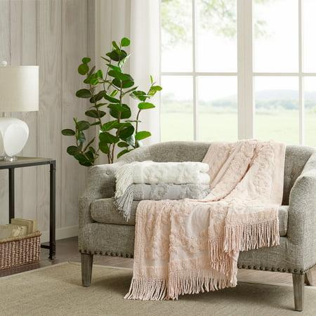 (Home Essence Mila 100 Percent Cotton Tufted Throw Blanket, 50