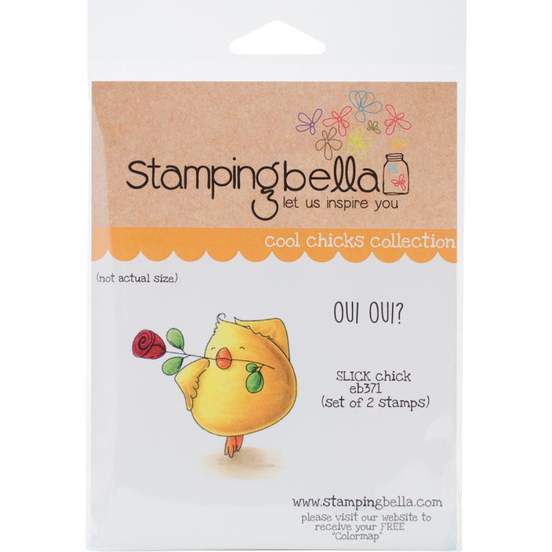 "Stamping Bella Cling Stamp, 6.5"" x 4.5"", Slick Chick"