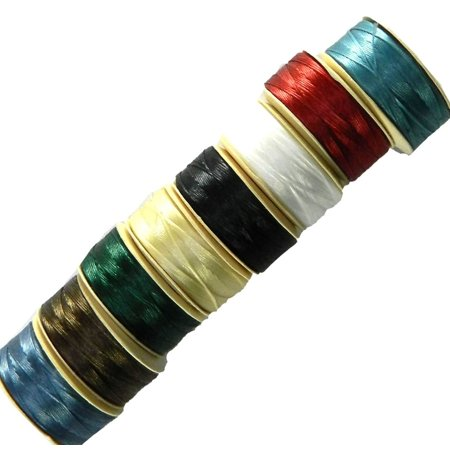 B Nymo Nylon, Loose Seed Beads, Thread Size 8 Bobins Mix 0.008 Inch 0.203mm ()