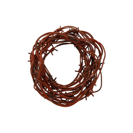 24' Fake Rusted Barbed Barb Wire Halloween Decoration Rusty Wire Prop Garland (Halloween Fake Burn)