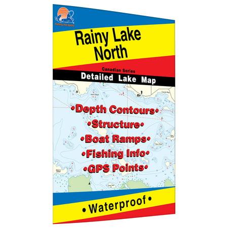 Rainy   North Fishing Map  Lake  Includes Redgut Bay Fishing Map  Manitou Sound Fishing Map  Northeast And Northwest Bays