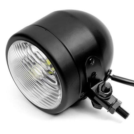 "Krator 4.25"" Mini Headlight w/ High and Low Beam + Fog Lights LED Bulb Black Housing for Yamaha Virago XV 250 500 535 700 750 920 1100 - image 6 of 8"