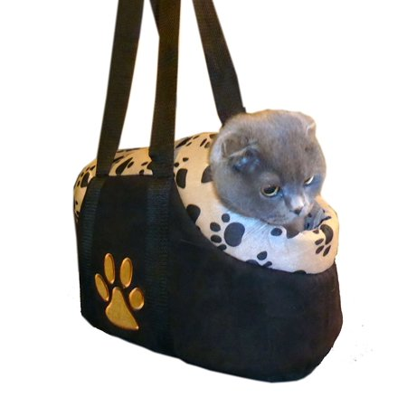 Paw Style Small Pet CARRIER Color:Beige Size:Medium, 16