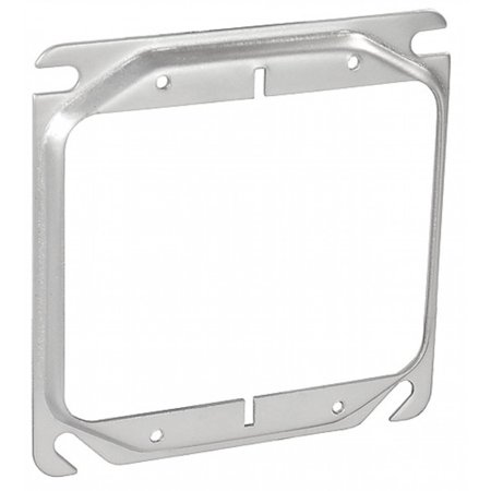 """5 Pcs, Steel 4"""" Square Two Gang Device Ring, 1/4 In. Raised Used w/4"""" Square Boxes to Mount Switches, Receptacles & Devices"""