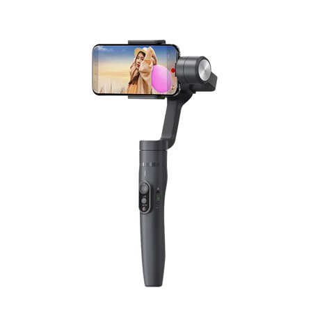 FeiyuTech Vimble 2 3- Stabilized Handheld Gimbal & Pole Splash-proof Telescopic Extension Mobile Phone Video Stabilizer Support Face & Object Tracking Time-lapse Photography Built-in Zoom Slider for