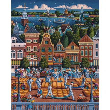Jigsaw Puzzle - The Netherlands 500 Pc By Dowdle Folk Art