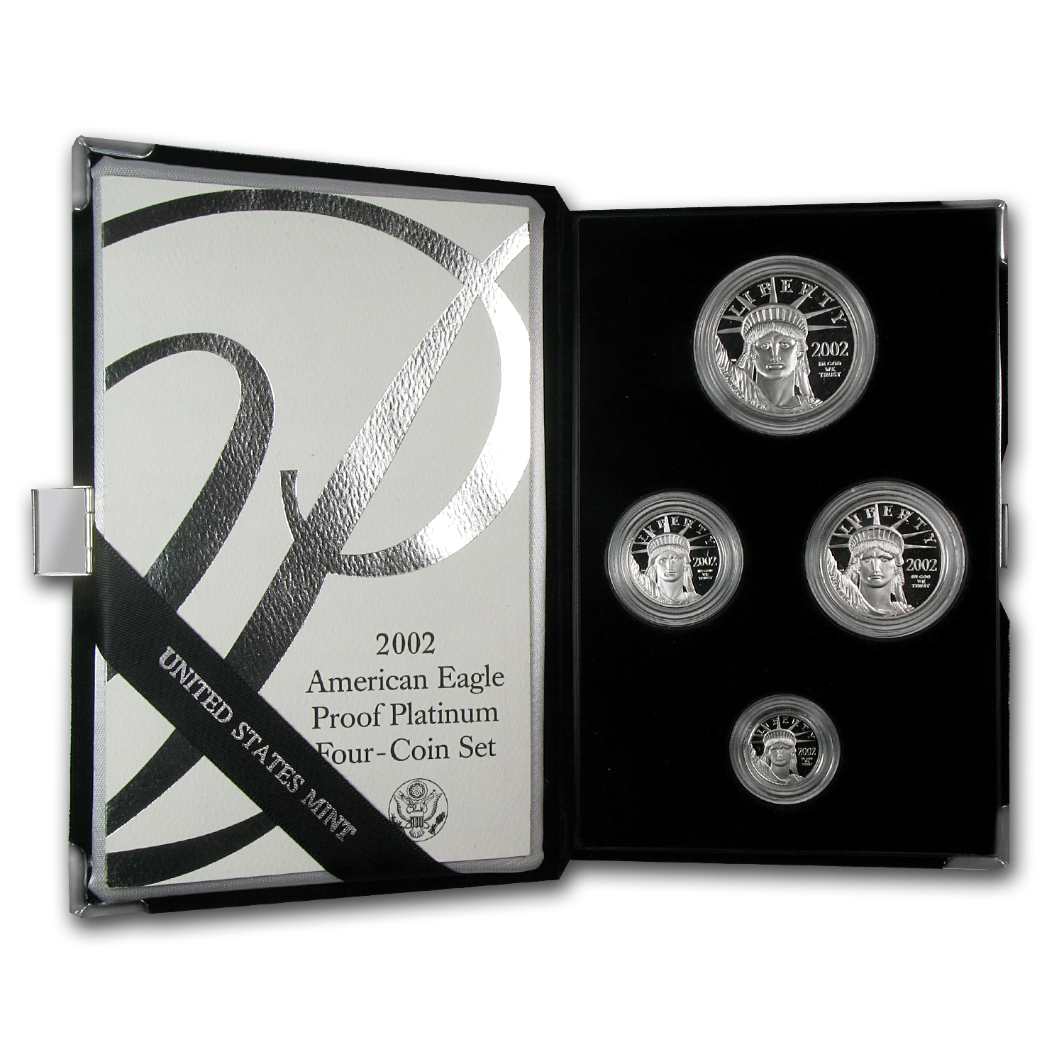 2002-W 4-Coin Proof Platinum American Eagle Set (w Box & COA) by