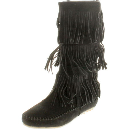 Women Artifical Suede Mid Calf With Button Zippers Boots