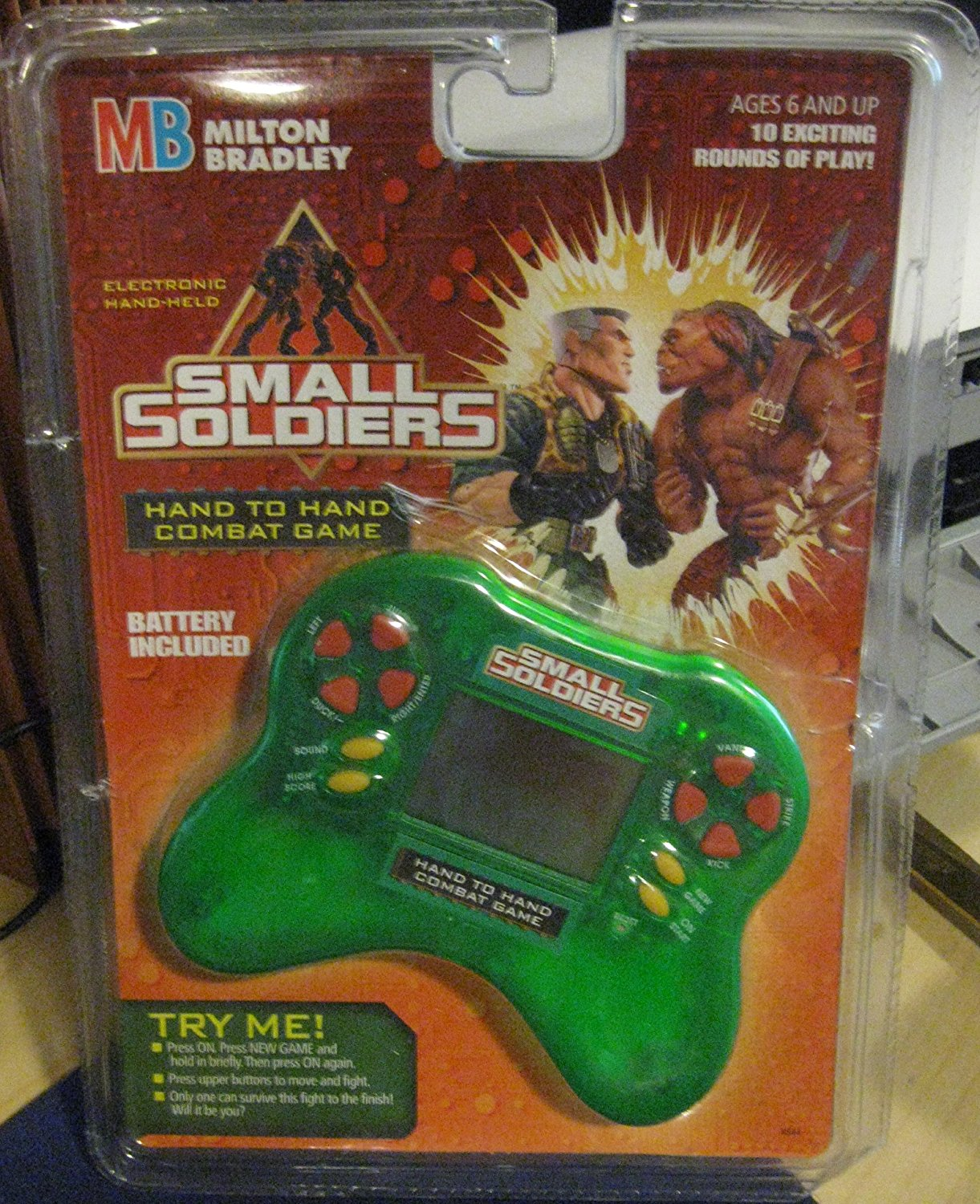 Small Soldiers Electronic Hand to Hand Combat Handheld Game by, 10 exciting rounds of play! By Milton Bradley by