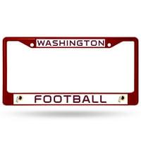 Washington Redskins Football Colored Chrome License Plate Frame - Burgundy