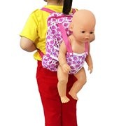 XADP Baby Doll Carrier Backpack -Storage for Doll Clothes and Accessories- Fits 15 to 18 inch Dolls dolls