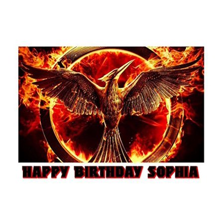 The Hunger Games Mockingjay Katniss Edible Image Photo Sugar Frosting Icing Cake Topper Sheet Personalized Custom Customized Birthday Party - 1/4 Sheet - 76338
