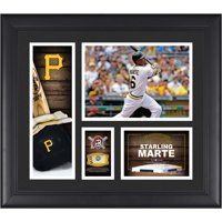 "Starling Marte Pittsburgh Pirates Framed 15"" x 17"" Player Collage with a Piece of Game-Used Ball"