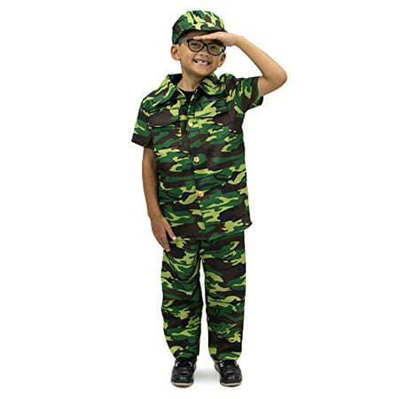 Boo! Inc.Courageous Commando Kids Halloween Costume, Dress Up Army Soldier Camo