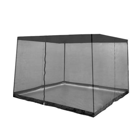 Z-Shade Bug Screen Instant Outdoor Gazebo Screenroom Only, Black ()