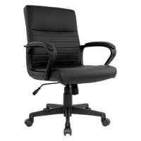 Staples Tervina Luxura Mid-Back Manager Chair (Black)