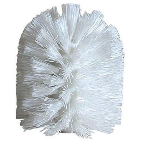 replacement toilet brush head for bathroom - white, white