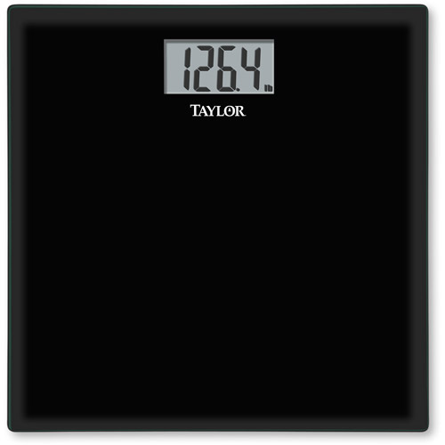 taylor tempered glass bath scale, model#75584192b, black - walmart
