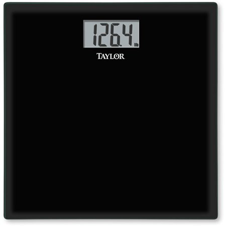 - Taylor Tempered Glass Bath Scale, Model#75584192B, Black