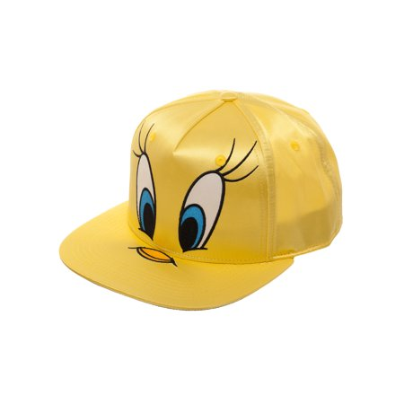 Tweety Bird Big Face Satin Flat Bill Hat
