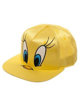 1cebee815d4 Product Image Tweety Bird Big Face Satin Flat Bill Hat