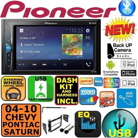 04-10 CHEVY PONTIAC SATURN PIONEER TOUCHSCREEN BLUETOOTH USB/AUX STEREO PKG (2018 Chevy Touch Screen)