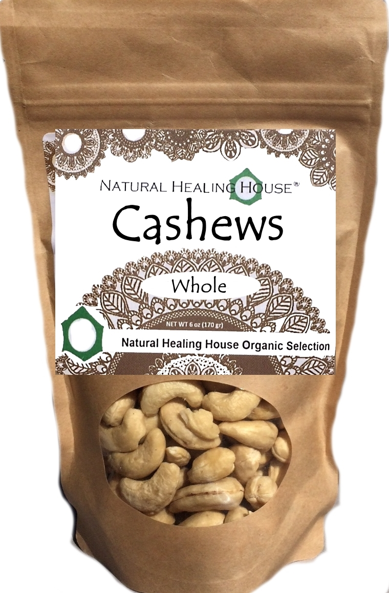 Cashews Whole Raw 6 oz by Natural Healing House by