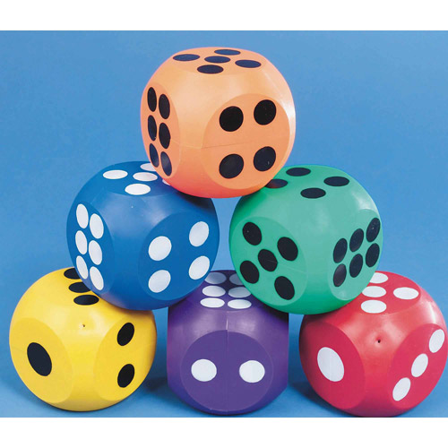 """Spectrum 4"""" Rubber Dice, Set of 6 by S&S"""