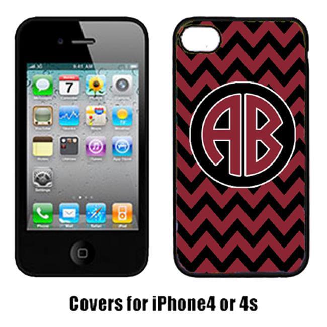Carolines Treasures CJ1052-CUSTOM-IP4 Chevron Garnet And Black For South Carolina University Cell Phone Cover Iphone 4