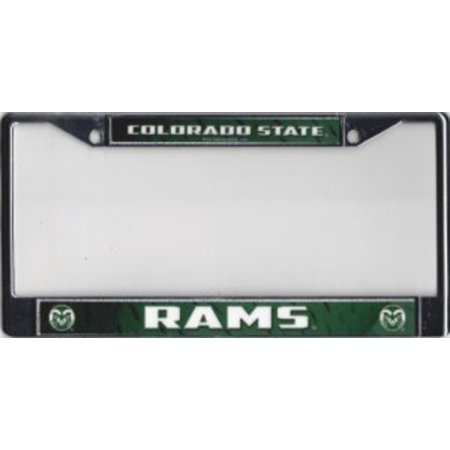 Colorado State Rams Chrome License Plate (Colorado State Rams Lamp)
