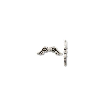 - Bead Angel Wing 22x7mm Pewter Antique Silver Plated (1-Pc)