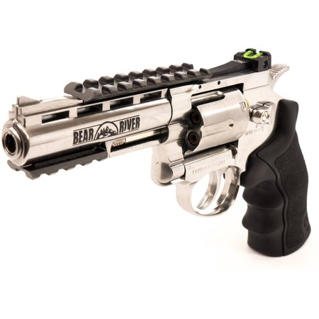 4  Co2 Powered Bb Revolver  410 Fps  Chrome