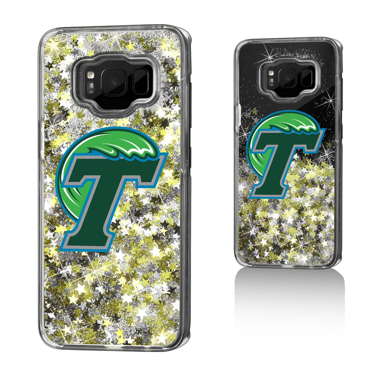 TU Tulane Green Wave Insignia Glitter Case for Galaxy S8