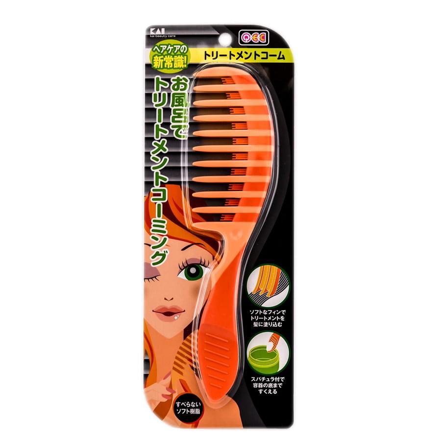 Kai Smart Cute Treatment Hair Comb ( Peach Comb #KQ-0959)