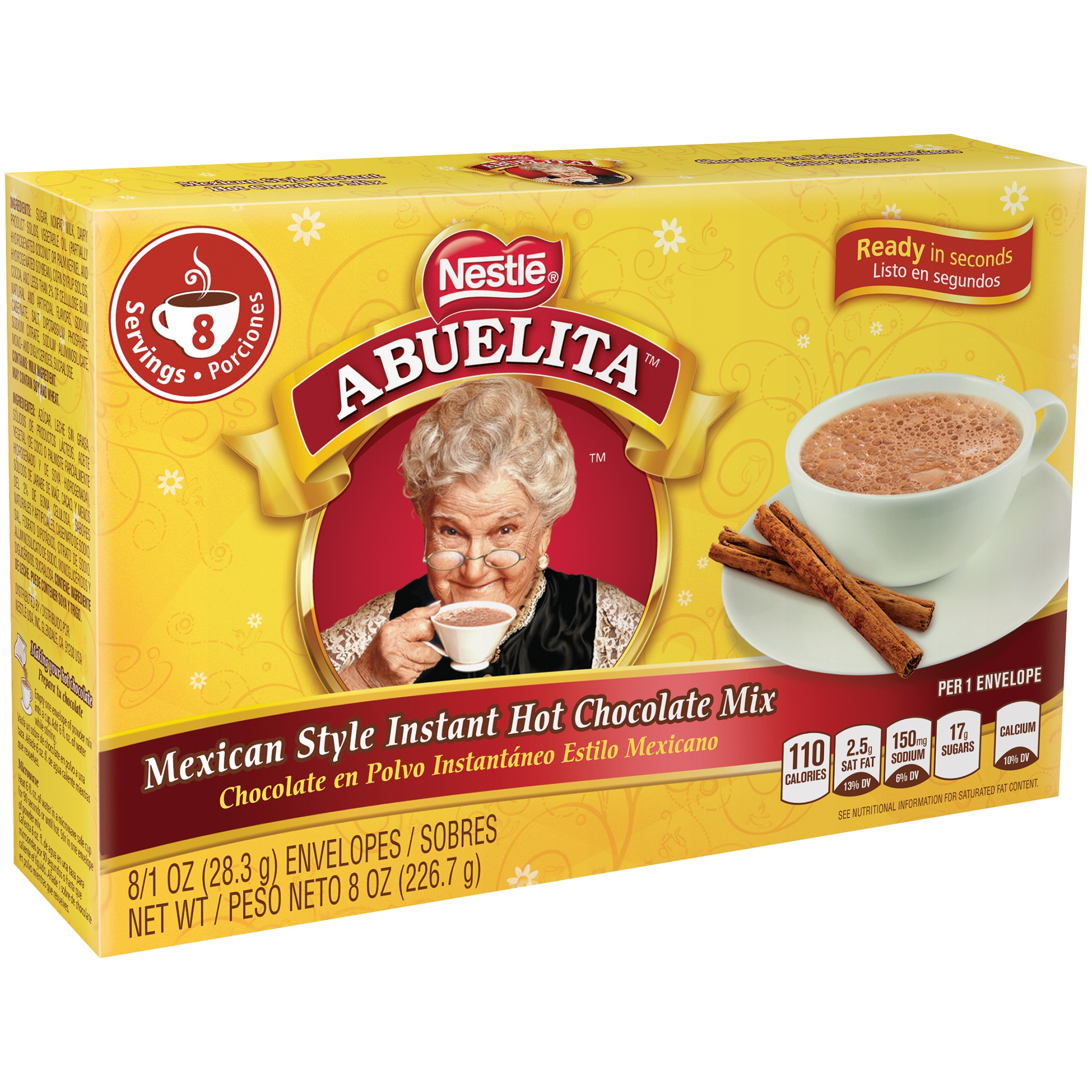 Nestle ABUELITA Mexican Style Instant Hot Chocolate Mix 8-1 oz ...
