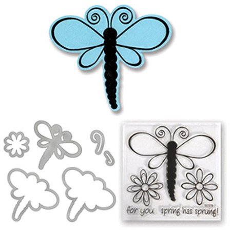 Sizzix  Framelits Dragonflies Die Set with Stamps (5 Pack)