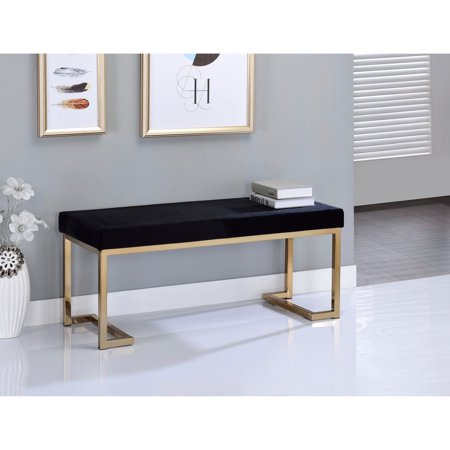 ACME Boice Bench, Black Fabric and Champagne