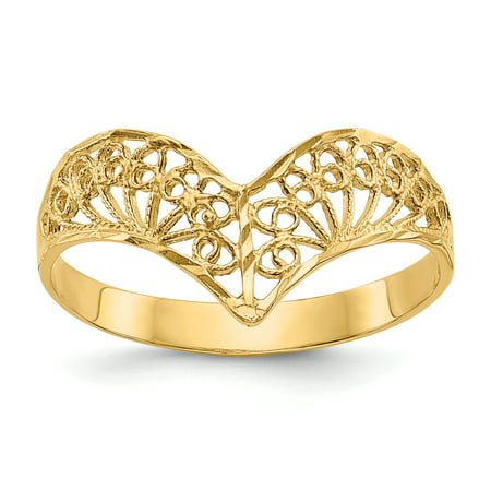 14k Diamond-Cut Filigree Ring (Russian Filigree Ring)