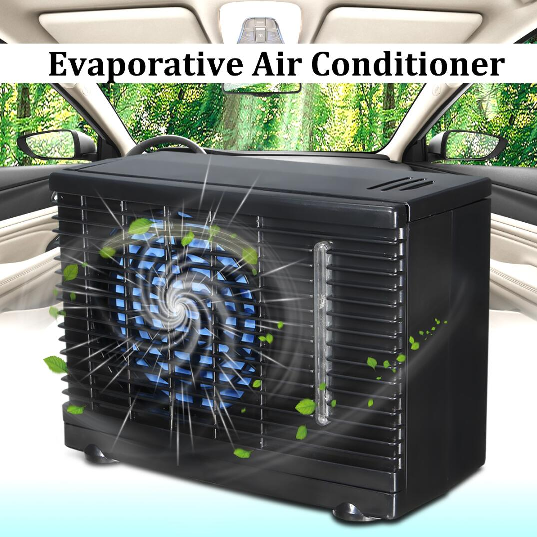 12V Portable Universal 2 Speed Car Cooler Fan Water Ice Evaporative Air Conditioner Kit Humidifier, Purifier