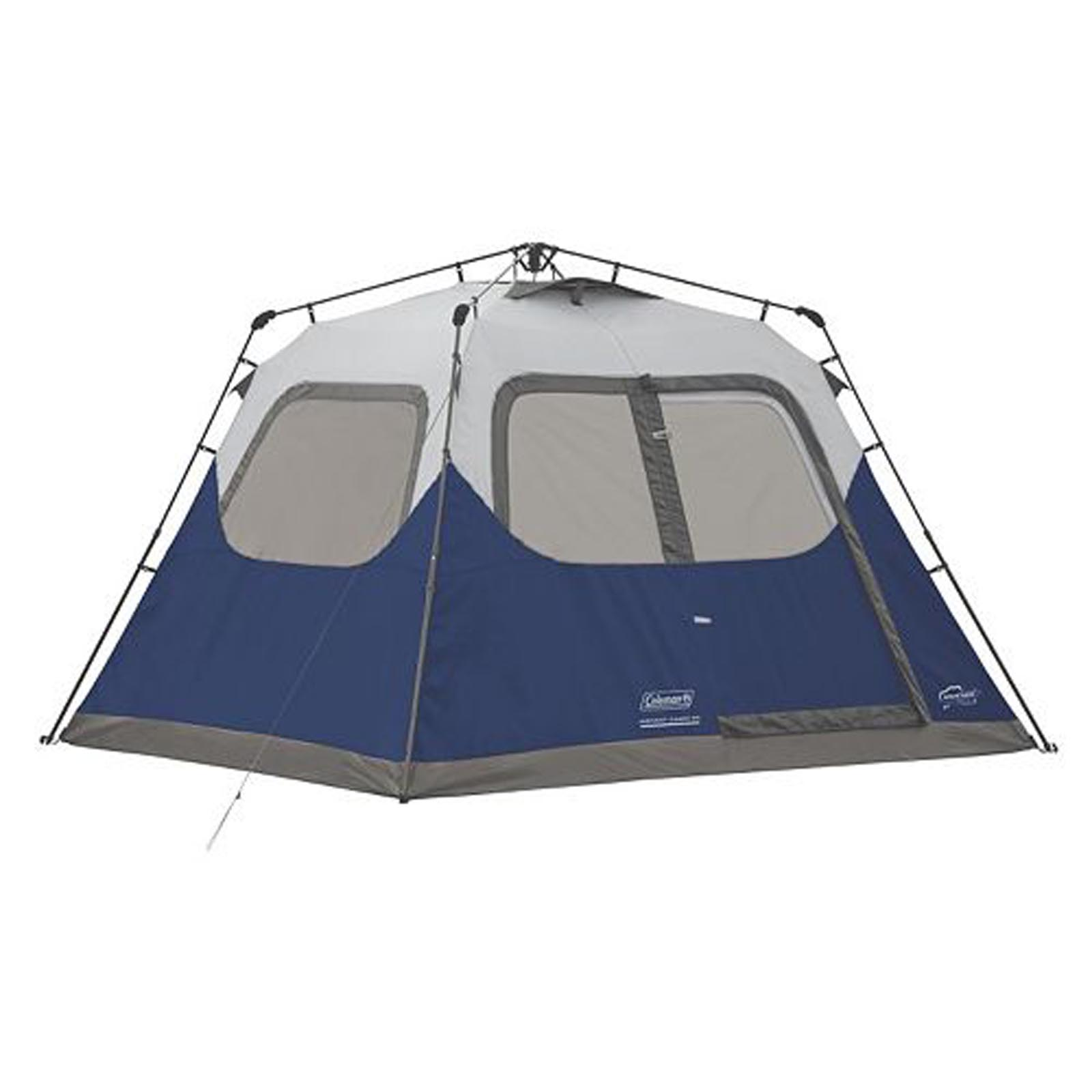 Coleman 6-Person 10u0027 x 9u0027 Instant Cabin Family C&ing Tent w/  sc 1 st  Walmart.com & Family Camping Tents