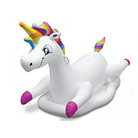 Kovot Inflatable Ride-On Unicorn Pool Float, 5' - Inflatable Unicorn Head