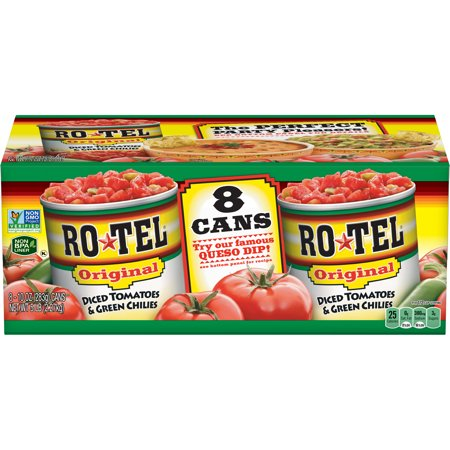 RO*TEL Original Diced Tomatoes and Green Chilies, 10 Ounce (8