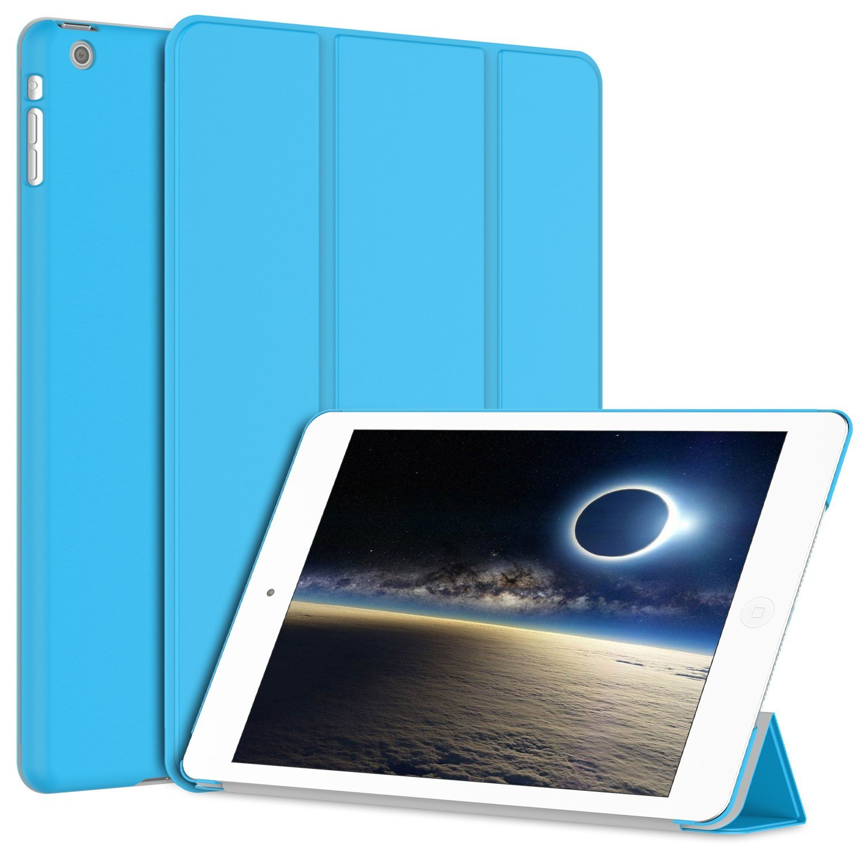 iPad Mini Case, SuprJETech® Gold 2 Serial Apple iPad Mini and the New iPad Mini 1/2/3 All Models Slim-Fit Folio Smart Case Cover with Auto Sleep/Wake Feature (Black)