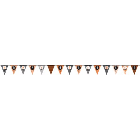 Happy Halloween Pennant Banner, 14 ft, 1ct