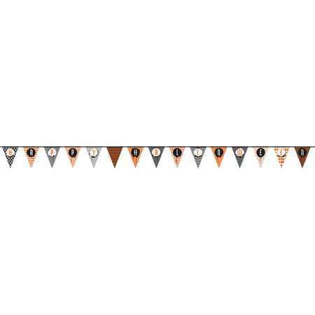 Happy Halloween Pennant Banner, 14 ft, - Vector Halloween Banner