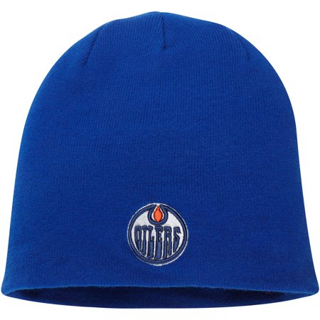 Edmonton Oilers Fanatics Branded Core Knit Beanie - Royal - OSFA