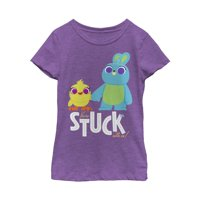 Toy Story Girls' 4 Ducky & Bunny Stuck With Us T-Shirt