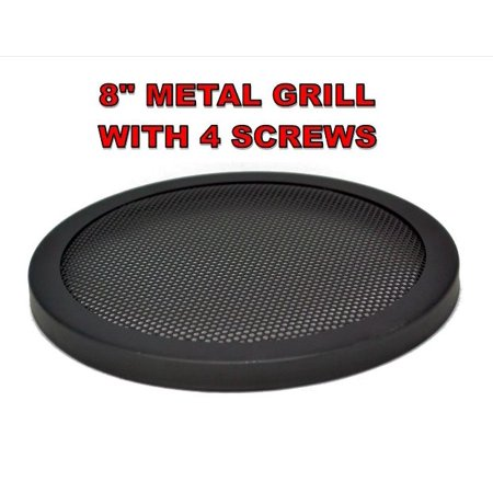 """8"""" INCH CAR SPEAKER WOOFER STEEL MESH GRILL WITH SPEED CLIPS AND SCREWS"""