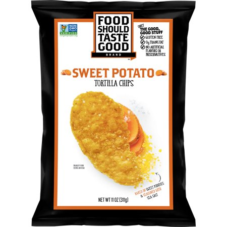 Food Should Taste Good Sweet Potato Tortilla Chips, 11 oz for $<!---->